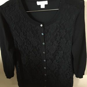 Christopher Banks women's black Small sweater